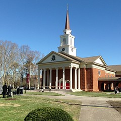 At the Regent University Chapel ribbon-cutting ceremony starting at 11am!