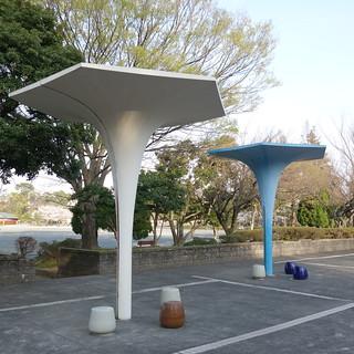 昔風な風景。駿府城公園の一角。