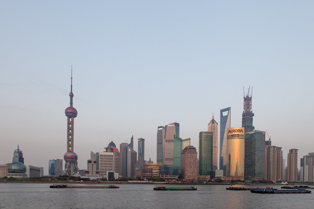 Early 2013 Pudong Skyline
