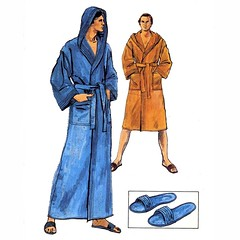 Vogue 9616 mens robe slipper