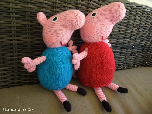 Peppa Pig Knitting Patterns : Peppa Pig and George Mama G & Co.
