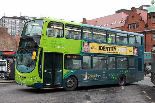 Arriva North East: 7801 NK13AZA Volvo B5LH/Wright Eclipse Gemini 2