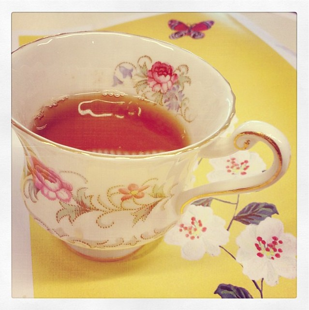 Simple pleasure: drinking tea from a nice cup - day 19 of #flow31details