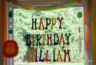 Will's 1st birthday