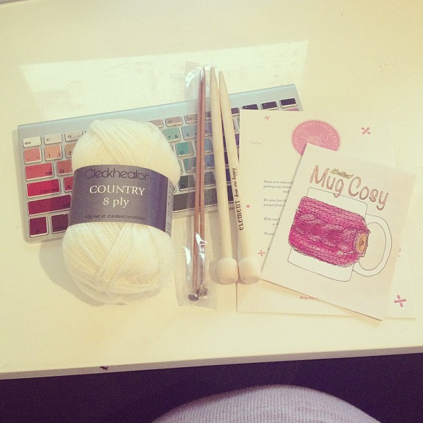 Knitting goodies from @elementeden_au. Now I just need to learn how to knit!