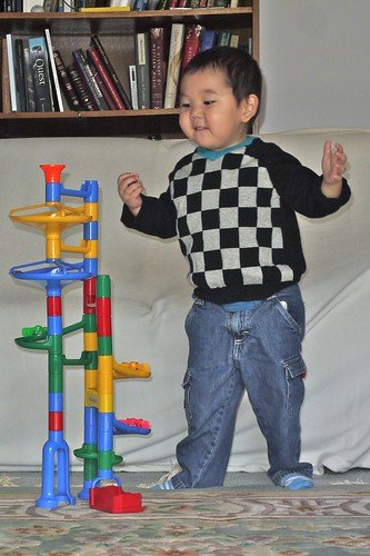 Playing with Marble Run by LugerLA