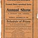 1933 Carnamah Show Schedule