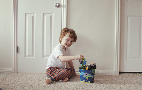 a boy and his basket, Easter 2013