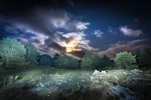 sky lightpainting night landscape long exposure