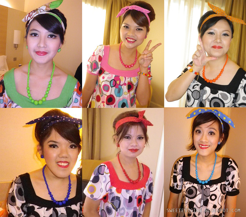 retro dnd company dinner make up and hairdo by make up artist after makeover