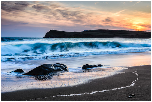ocean ireland sunset irish seascape beach nikon rocks waves dingle kerry atlantic duek kinard