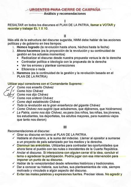 """POLÍTICA: Publican el """"libreto"""" de Maduro"""