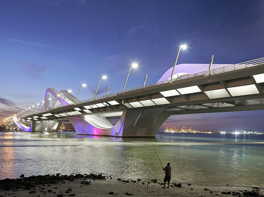 Sheikh Zayed Bridge design by Zaha Hadid Architects