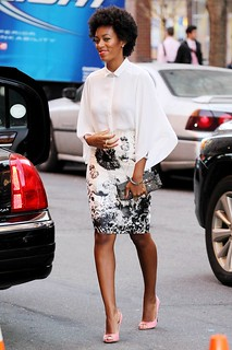 Solange Knowles White Shirt Celebrity Style Women's Fashion