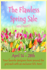 Flawless Spring sale and Hunt poster