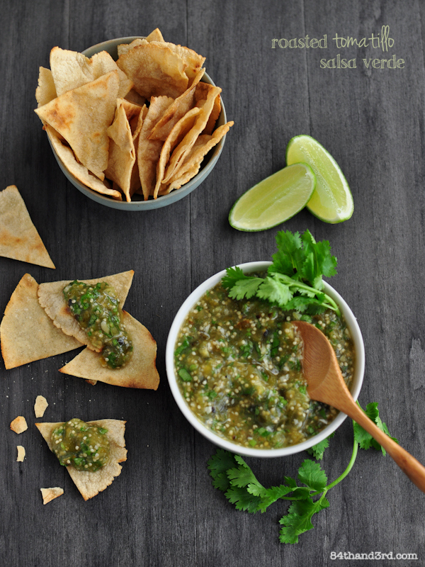 Roasted Tomatillo Salsa Verde Recipe — Dishmaps