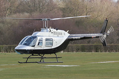 G-BXDS - 1979 build Bell 206B Jet Ranger III, departing down Runway 27 at Barton