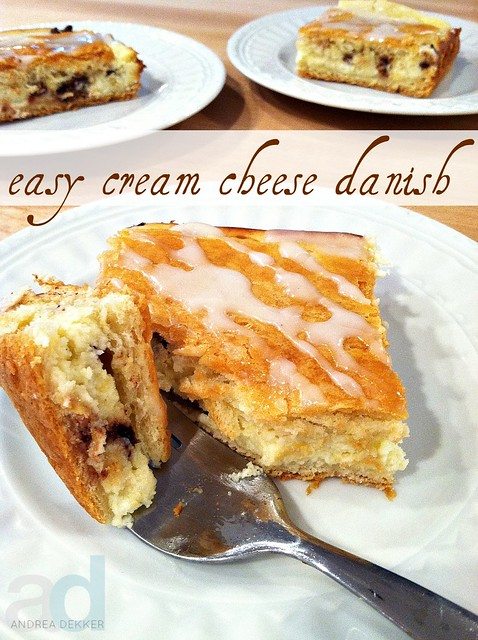 Easy Cream Cheese Danish - Andrea Dekker