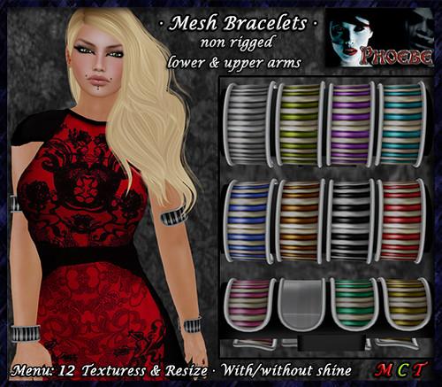 P Isis Mesh Bracelets ~Stripes~