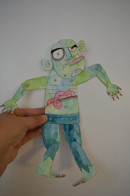 Split Pin Puppet - Zombie