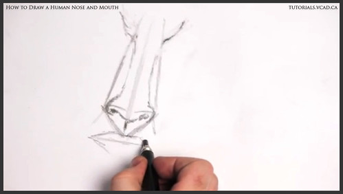 learn how to draw a human nose and mouth 006