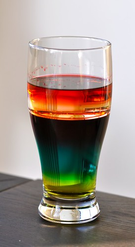 density liquids colors