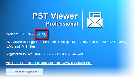 Pst Viewer Pro is now a 64-bit app for searching and exporting Outlook email messages.