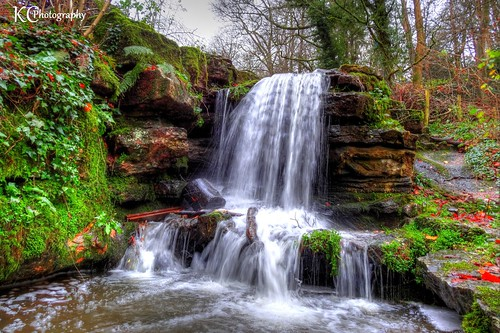 waterfall waterfalls pool abbotspool pond lake woodland woods forest trees abbotsleigh bristol northsomerset somerset england uk hdr sonydschx20v photomatixpro tonemapped