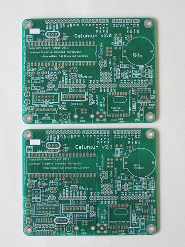 Calunium v2 and v2.1 PCBs