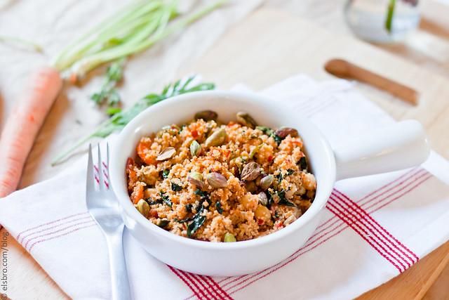 kale and carrots couscous