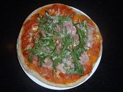 Pizza med rucola