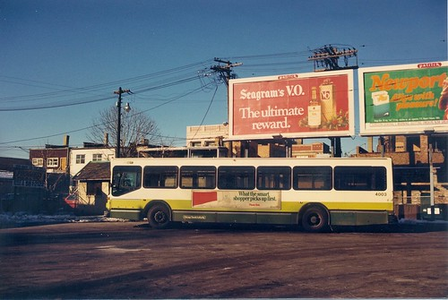 A Chicago Transit Authority 1985  M.A.N   40 foot  transit bus.  Chicago Illinois.  Early January 1988. by Eddie from Chicago