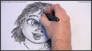 draw a young girls face