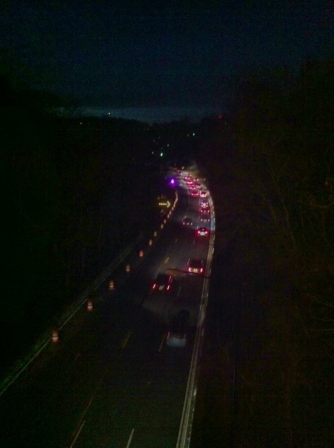 Looking down on Rock Creek Parkway from Taft Bridge