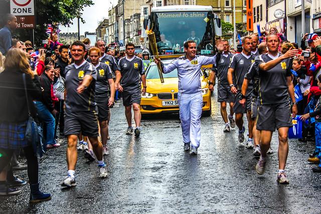 Paso de la Antorcha Olímpica por Southampton