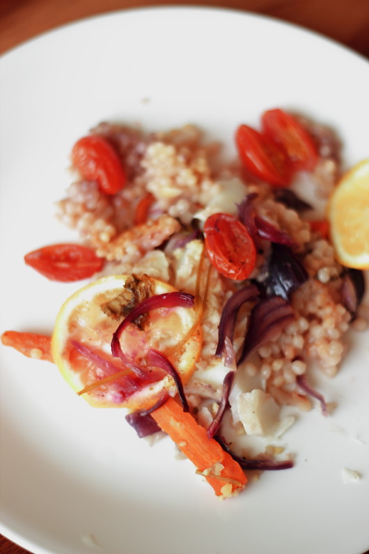 Fish and Couscous En Papillote