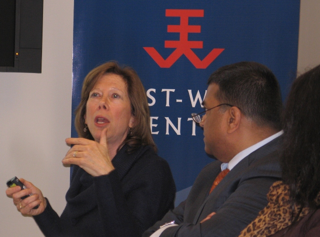 Ms. Deborah Gordon, expert on oil, climate, and transportation issues at the Carnegie Endowment on International Peace, served as discussant for EWCW Visiting Fellow Dr. Llewelyn Hughes' presentation on Japan's approach to electric vehicle (EV) standards.