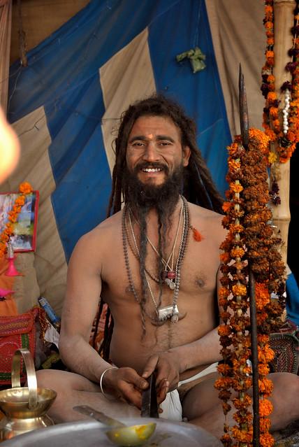 Saint at Kumbh mela