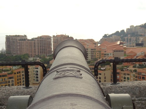 Monaco seen from the mouth of the cannon