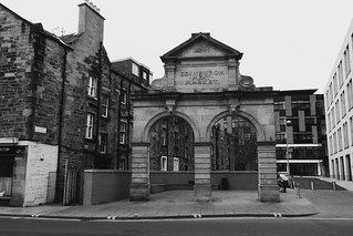Kuva Edinburgh Meat Market. scotland blackwhite edinburgh