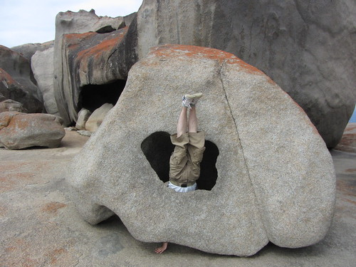 kangaroo island remarkable rocks headstand