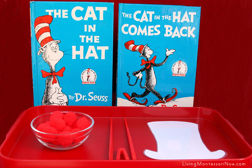 Cat in the Hat Pom Pom Transfer using Quick Sticks