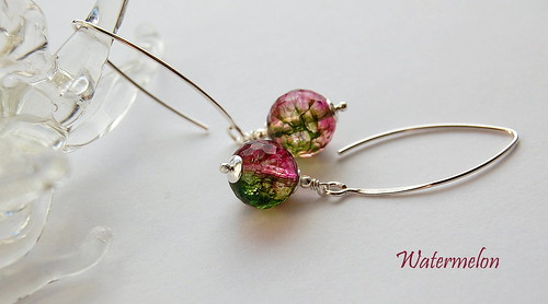 Watermelon Earrings by gemwaithnia