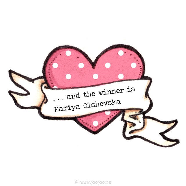 Winner of valentine giveaway