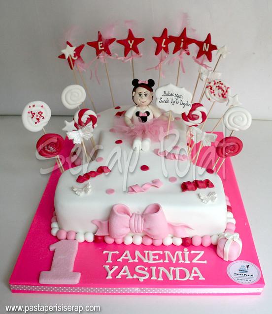 minnie 1 yaş pastası