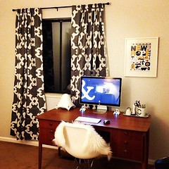 New curtains for my home office. #zgallerie #eames #mac #apple #starwars #midcenturymodern