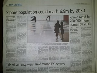 S'pre population could reach 6.9m by 2030