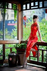 [フリー画像素材] 人物, 女性 - アジア, チャイナドレス, 台湾人 ID:201303170200