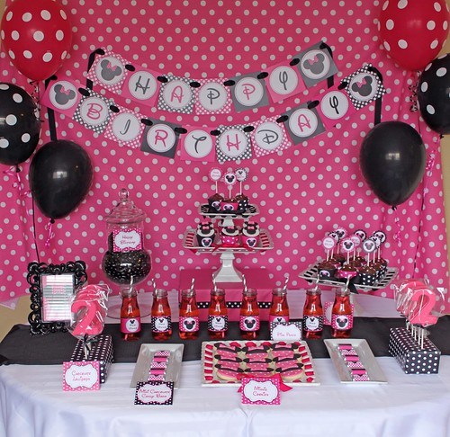 Decoracion de Minnie Mouse para Fiestas Infantiles - Blogicasa