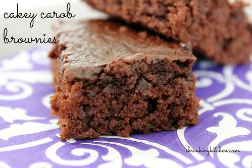 cakey carob brownies